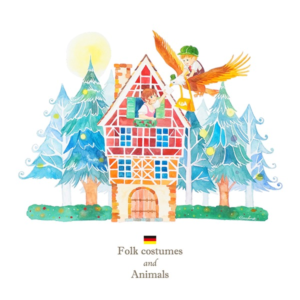 ドイツ×ワシのイラスト