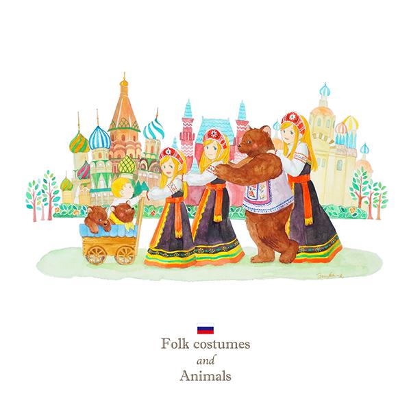 ロシア×クマのイラスト