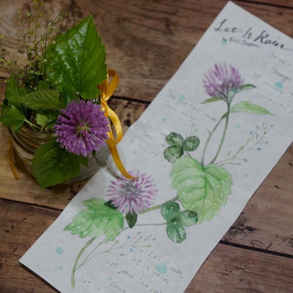 紫詰草のスケッチ